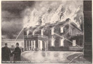 A local postcard about the fire in 1905