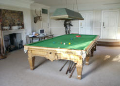Snooker Room with 19th Century Snooker Table